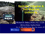 Screen shot of IA 2006 Soil Moisture Uniformity presentation