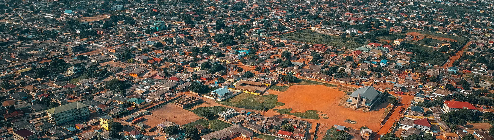 A ariel view of Ghana's capital city, Accra.